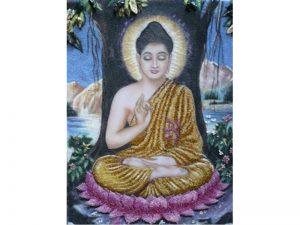 Tranh đá quý Phật Thích Ca Mâu Ni