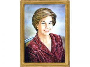 ranh đá quý chân dung - phu nhân tổng thống Mỹ - Bush